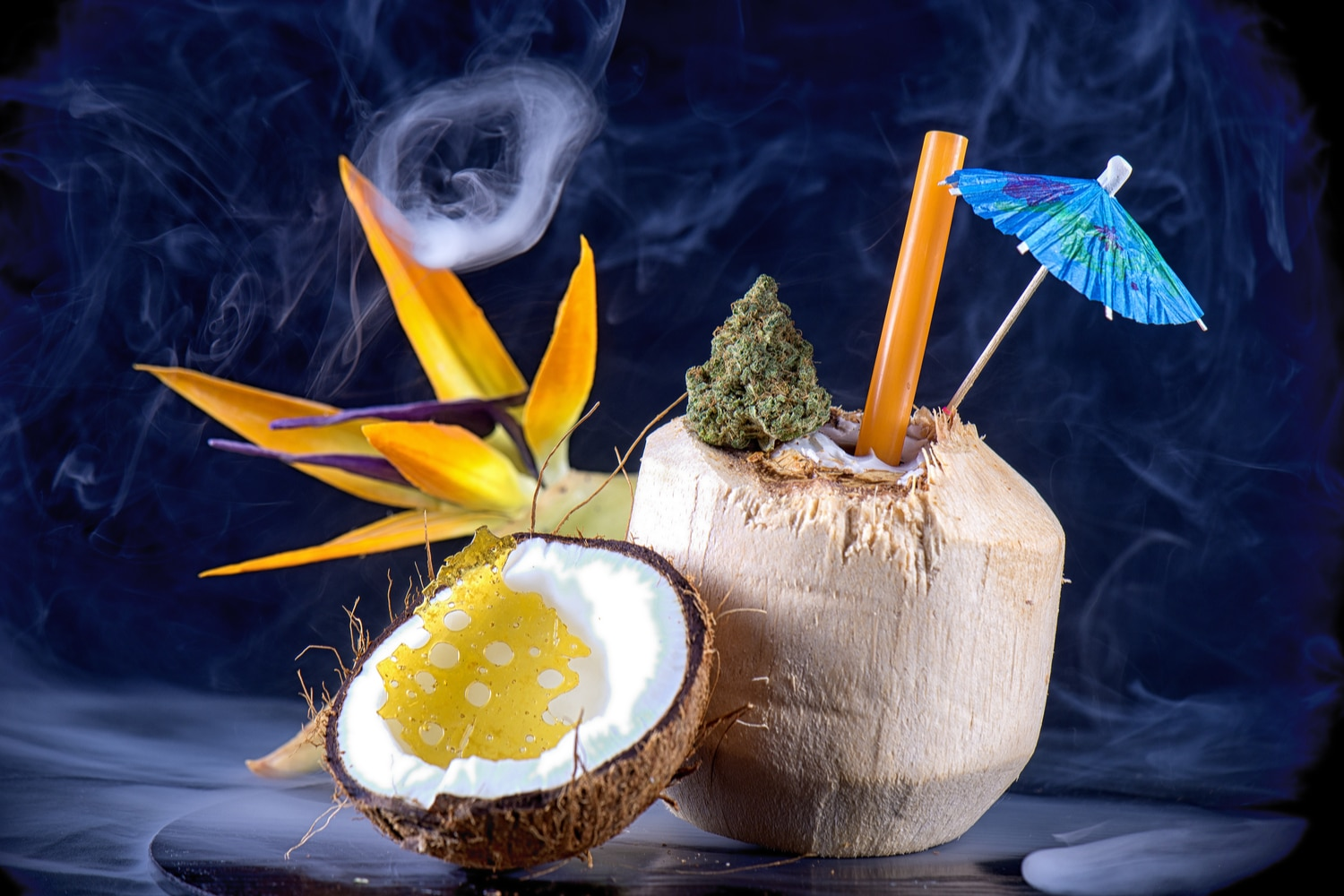 Coconut infused drink